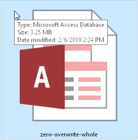 How to find out if an MS Access database is irreversibly