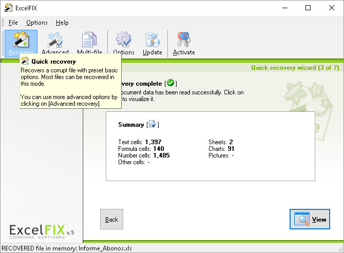 Excel repair software for xlsx & xls files - ExcelFIX