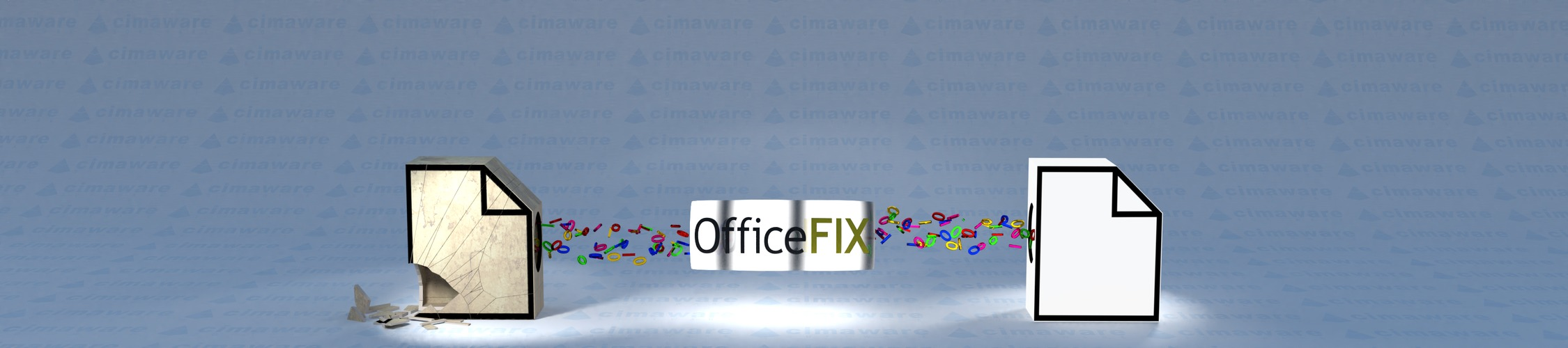 Our tools repair corrupt files by copying all undamaged content to a new error-free file.